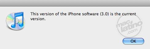 Proceso de instalación del software 3.0 para el iPhone 1