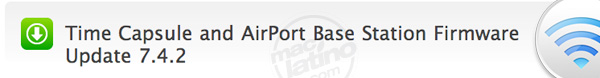 Time Capsule y AirPort Base Station Firmware Update 7.4.2 1
