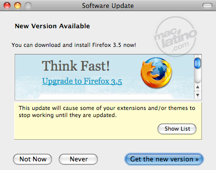 Disponible FireFox 3.0.11 9