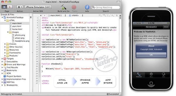Crea aplicaciones para iPhone con HTML y Javascript con NimbleKit 4