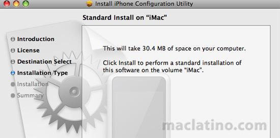 Utilidad de configuración 2.0 del iPhone para Mac OS X y para Windows  1