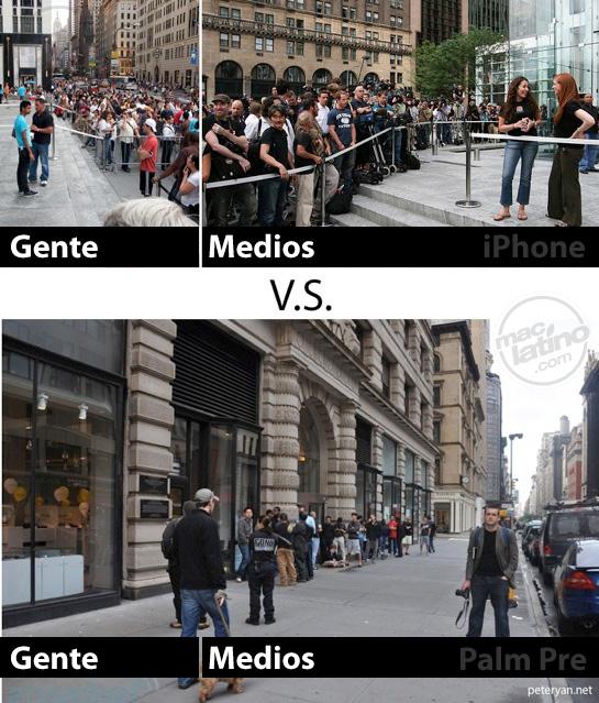 Lanzamientos de Palm Pre contra el iPhone 5