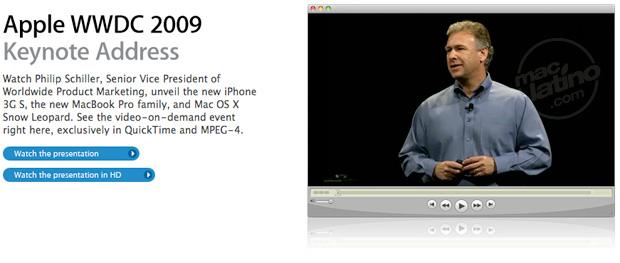 Video de la presentación del iPhone 3GS en la WWDC 2009 1