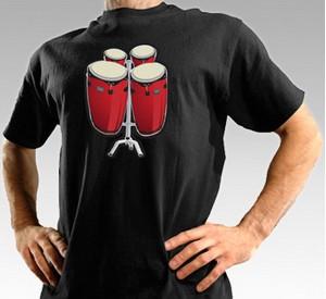 Camiseta con bongos electrónicos. 1