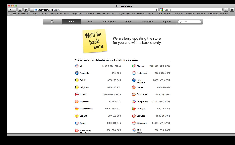 Extra extra... Apple Stores cerradas... que sera 10