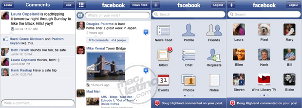 Facebook 3.0.2 para iPhone y iPod touch 1