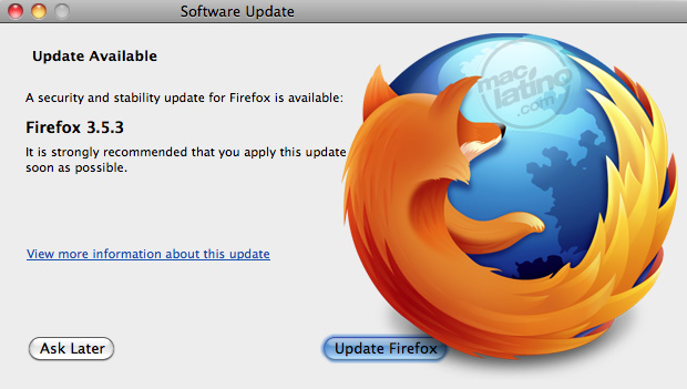 Descarga Firefox 3.5.3 para Mac OS X, Windows o Linux 1