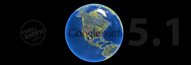 Descarga Google Earth 5.1 para Mac OS X 1
