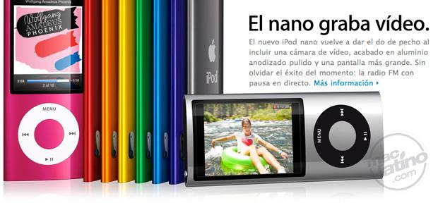 iPods nano con cámara, radio FM y podómetro 1
