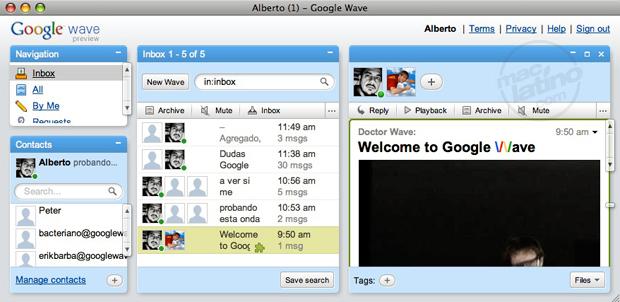 WaveBoard: Notificaciones en Mac para Google Wave 4