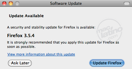 Disponible FireFox 3.0.11 3