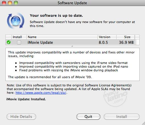 Actualizaciones disponibles de GarageBand 6.0.1 e iMovie 9.0.1 5