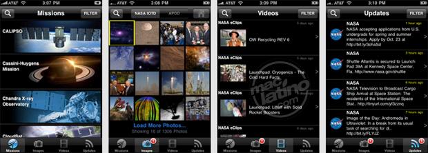 La NASA en el iPhone y iPod Touch 1