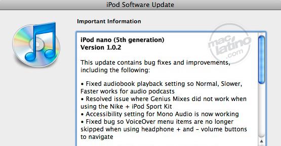 Rumor: la cámara regresa al iPod Nano 7
