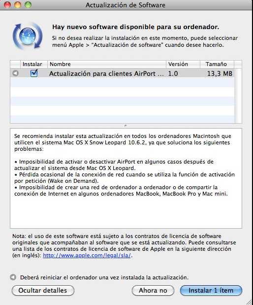 Actualización AirPort Extreme Update 2008-002 disponible 3