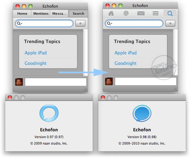 Descarga Echofon 0.9.8 para Mac OS X con buenas mejoras para Twitter 1