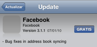 Facebook 3.1.1 para iPhone y iPod touch 1
