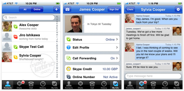 Skype 1.3 para iPhone y iPod touch 1