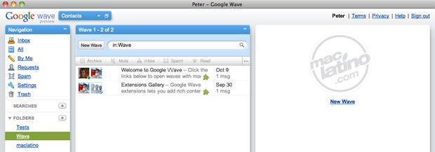 Descarga Waveboard 1.0 para utilizar Google Wave en Mac OS X 8