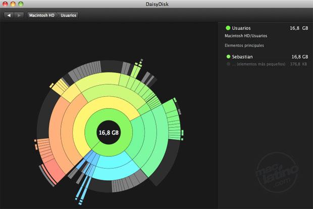 DaisyDisk - analiza tu disco y libera espacio en tu Mac 1