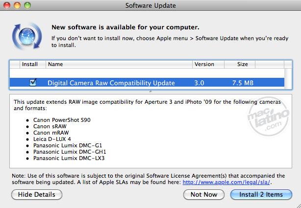 Aperture 1.0.1 disponible para descargar, Apple acaba de actualizarlo 3