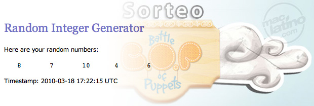 Ganadores de Battle of Puppets para iPhone y iPod Touch 1