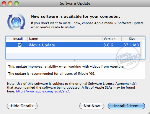 Descarga iMovie 8.0.6 2