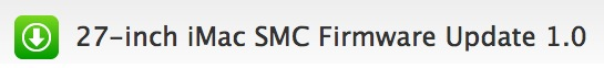 """Actualización: iMac 27"""" SMC Firmware 1.0 1"""