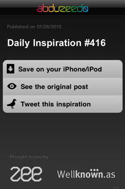 Abduzeedo: una App infaltable para iPhone/iPod Touch 4
