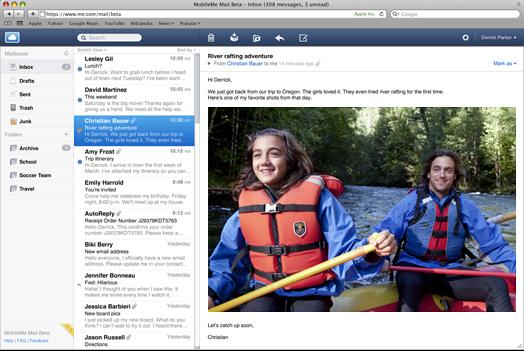 Apple lanza una nueva versión de Mobileme Mail en Beta 1