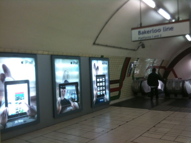 Publicidad del iPad en Londres 2