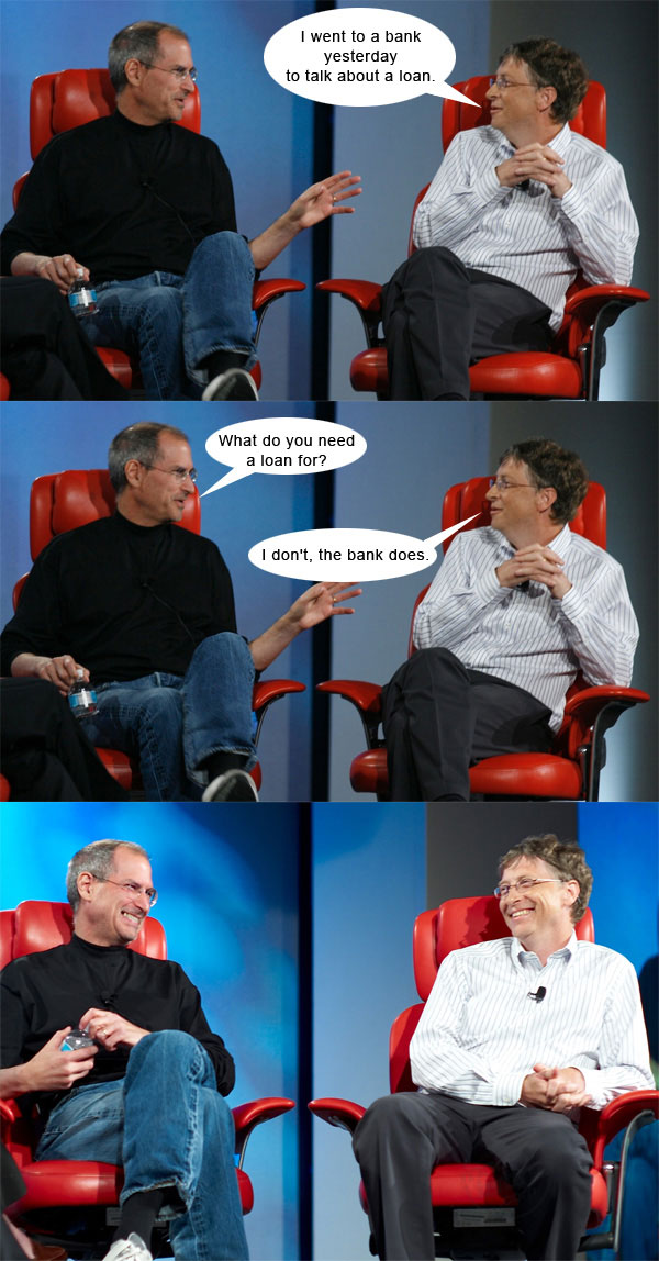 Steve Jobs vs Bill Gates con algo de humor 4