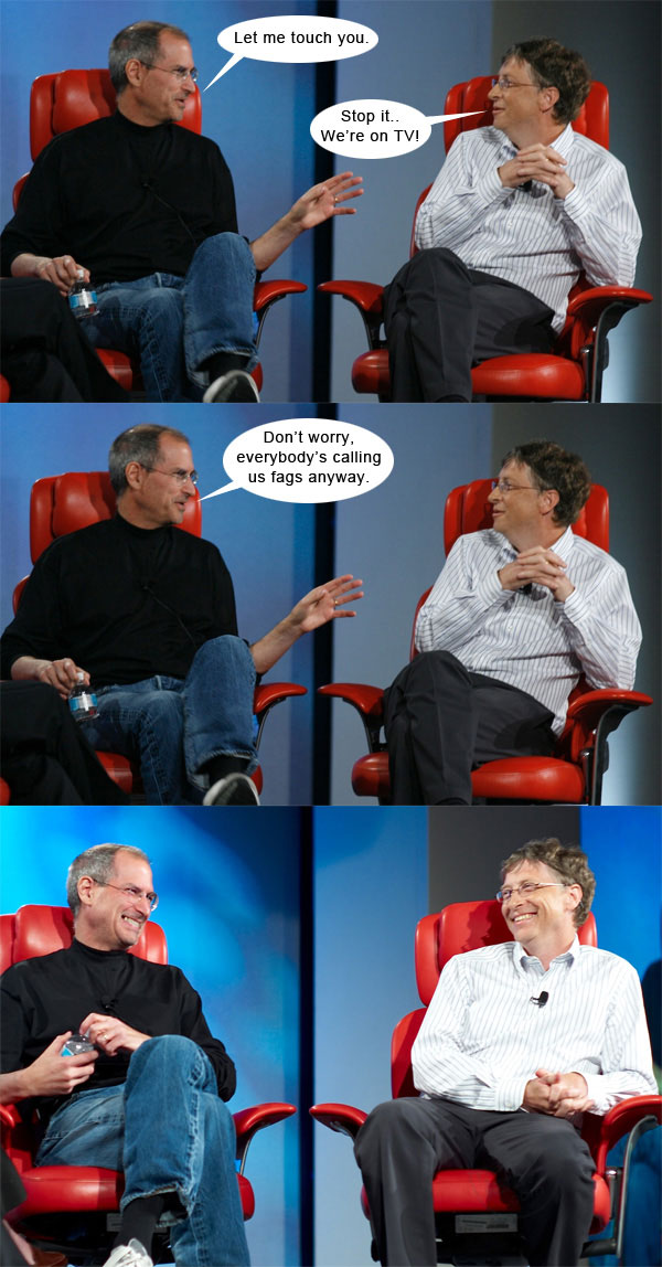 Steve Jobs vs Bill Gates con algo de humor 6