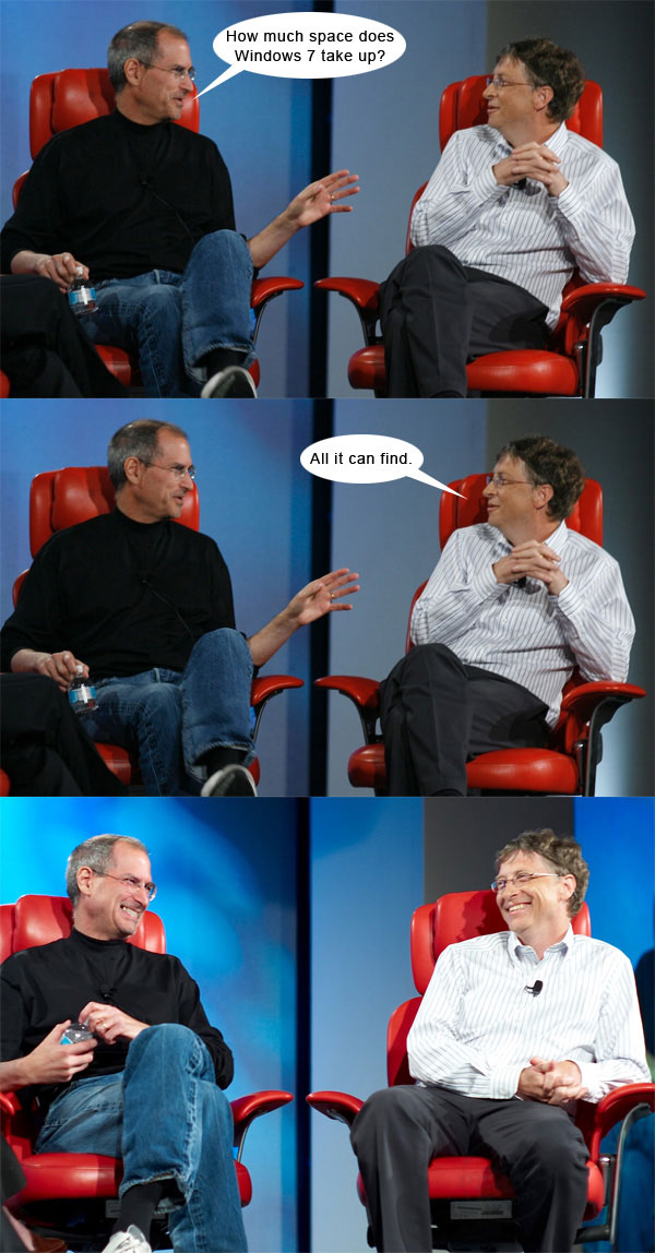 Steve Jobs vs Bill Gates con algo de humor 7