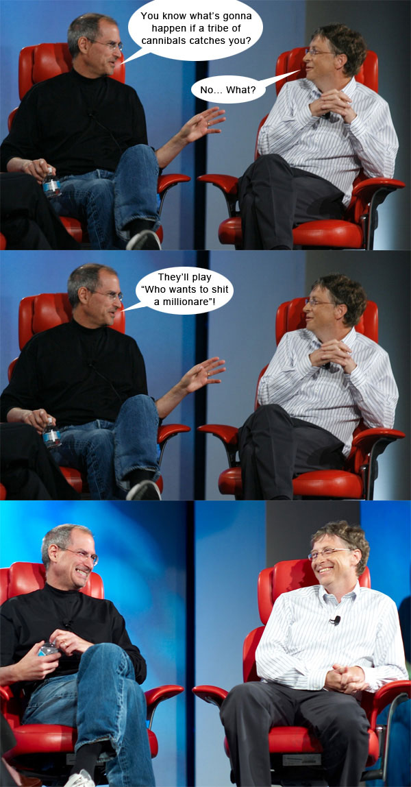 Steve Jobs vs Bill Gates con algo de humor 8