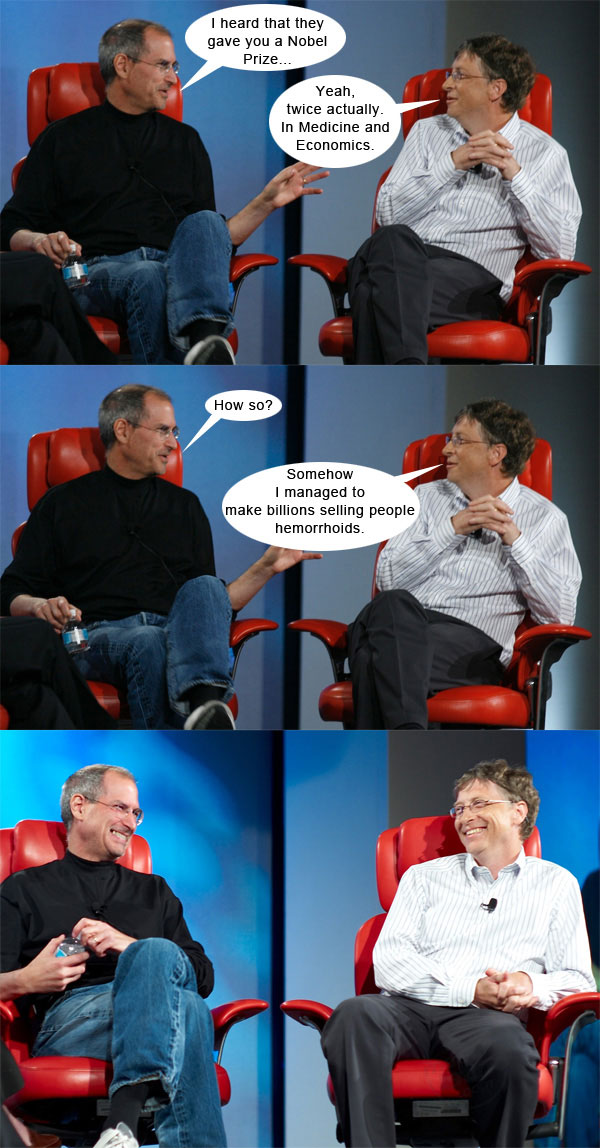 Steve Jobs vs Bill Gates con algo de humor 1