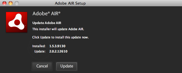 Descarga Adobe Air 2.0 para Mac OS X,  Windows y Linux 2