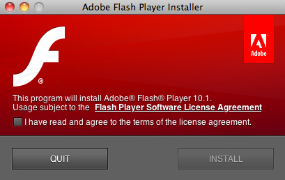 Descarga Adobe Flash Player 10.1 para Mac OS X y para Windows 1