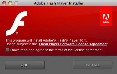 Descarga Adobe Flash Player 10.1 para Mac OS X y para Windows 4