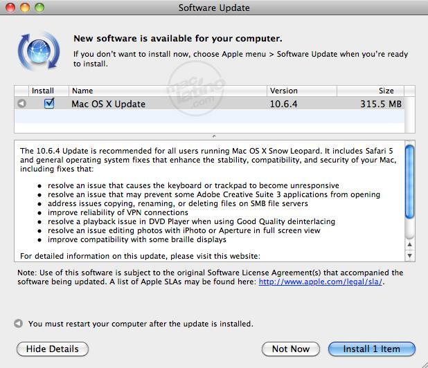 ODBC Administrator Tool, Network Registration y Server Admin Tools para Mac OS X Snow Leopard 6
