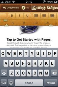 iWork para iOS con soporte para iCloud 4