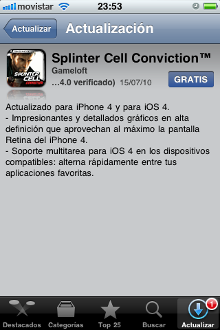 Splinter Cell Conviction se Actualiza