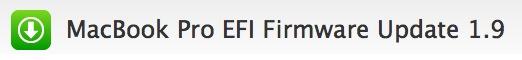 Actualizacíon: MacBook Pro EFI Firmware Update 1.9 1