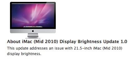 """Actualización: iMac 21.5"""" Brillo del monitor 1.0 1"""