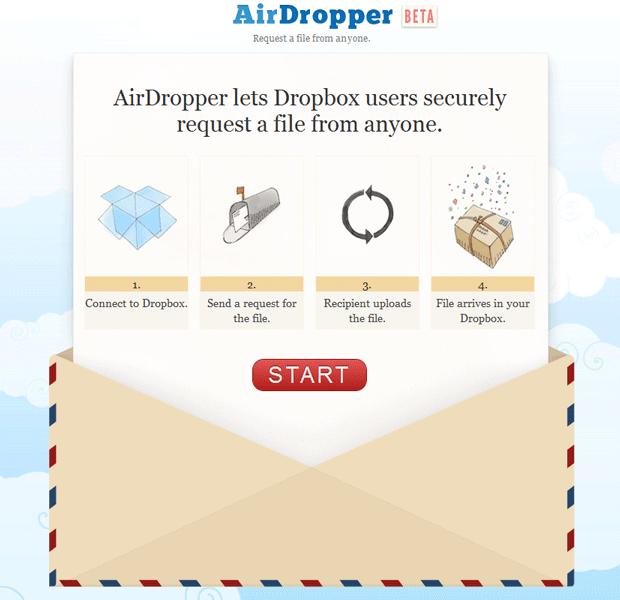AirDropper, trabaja con Dropbox 1