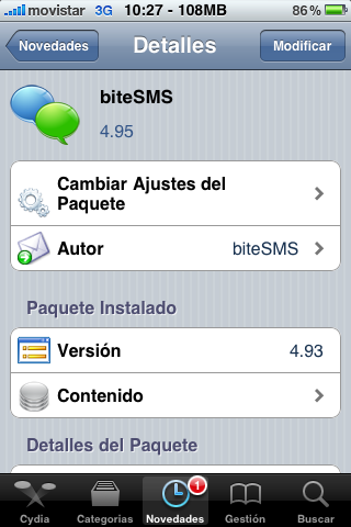 Siri corriendo en iPhone 3GS 5