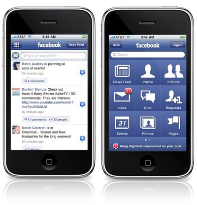 Facebook 3.1.2 para iPhone y iPod touch 5
