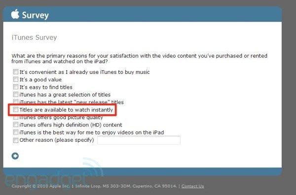 Engadget cree que Apple, tiene listo un servicio de streaming de video vía iTunes 1