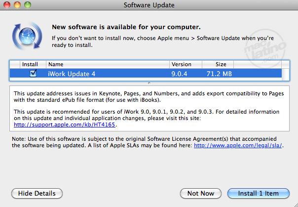 Pages 1.0.2 - El procesador de texto de Apple se actualiza 1