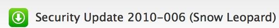 Actualización: Mac OS X Snow Leopard Security Update 2010-006 1